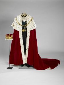 The Duke of Edinburgh's uniform with Coronation Robe and coronet.