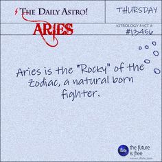 Aries 13456: Check out The Daily Astro for facts about Aries.