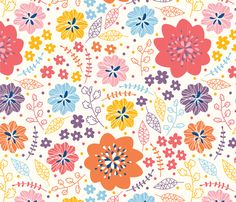 Cute flowers - alex_dzh - Spoonflower