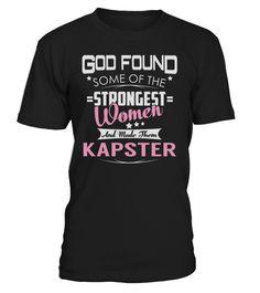 Kapster Strongest Women Job Title T-Shirt #Kapster