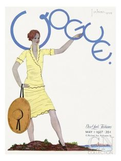 Vogue Cover - May 1927 Poster Print by Georges Lepape at the Condé Nast Collection