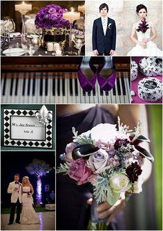Black and purple. Love. #wedding