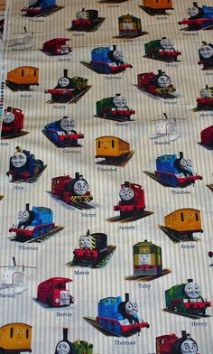 Thomas+the+Train+Fabric+/+Gordon+Henry+James+by+trinketsintheattic