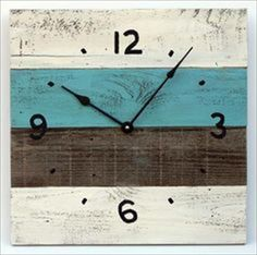 The Best DIY Wood and Pallet Ideas: 20 Simple and Easy Pallet Hanging Wall Clock Desig...