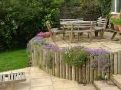 Timber Retaining Walls.. That looks beautiful! I belong in the country