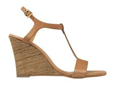 Sole-mate: 20 Shoes To Wear To An Outdoor Wedding  Brown t-strap wedge, Minelli