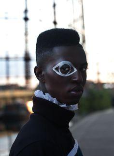 Avant-garde makeup / artistic makeup / creative makeup / men / men's makeup / evil eye / ayin hara → SAMAYA FFRENCH