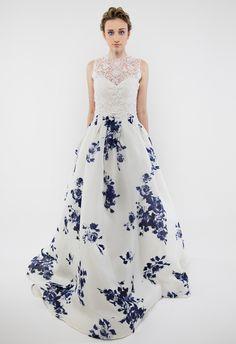 Tendencias: vestidos de novia con estampados florales - Moda - NUPCIAS Magazine