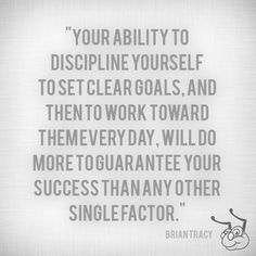 Discipline + clarity + work = success
