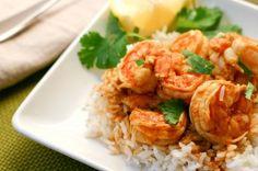 Piri Piri Shrimp - A spicy Mozambique shrimp and rice dish. Shrimp And Rice Dishes, Asian Recipes, Ethnic Recipes, Spicy Shrimp, Portuguese Recipes, Shrimp Recipes, I Love Food, Main Dishes, Cooking Recipes