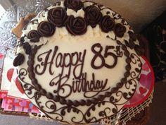 Beautiful 85th birthday cake