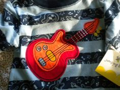 Kohl's Jumping Beans Red Guitar Blue 1 Piece Romper Baby Boy Size 3 6 Mos | eBay