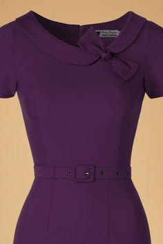 Daisy Dapper Megan Pencil Dress in Purple 19507 20160719 019 Cute Modest Outfits, Dressy Dresses, Sexy Dresses, African Fashion Dresses, Fashion Outfits, Dress Paterns, Wedding Dress Silhouette, Teen Girl Fashion, Dress Neck Designs