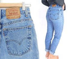 Vintage 90s High Waisted Levi's 512 Slim Fit por SadieBessVintage   Supernatural Style