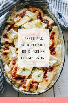 Pastinaakschotel a rencontré le brie Oven Dishes, Tasty Dishes, Food Dishes, Brie, I Love Food, Good Food, Yummy Food, Low Carb Recipes, Vegetarian Recipes
