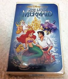 The Little Mermaid VHS, 1990 Black Diamond Classic
