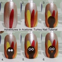 DIY Thanksgiving Nail Art nails thanksgiving nail art turkey nail tutorials thanksgiving nails thanksgiving nail art Source by Thanksgiving Nail Designs, Thanksgiving Nails, Thanksgiving Turkey, November Thanksgiving, Holiday Nail Art, Fall Nail Art, Fall Nails, Winter Nails, Cute Nail Designs