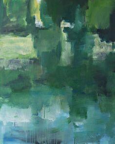"""Sylvie Van Hulle """"De Oude Leie 4""""  Acrylic on canvas - 70 x 90 cm"""
