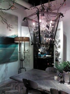 Fabulous Industrial Romance style light fixture
