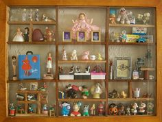 miniature collection shadow box