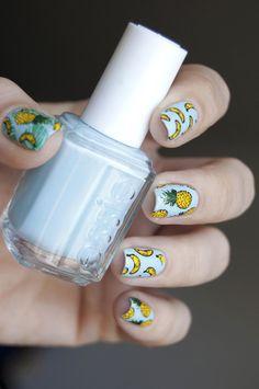 Nail Art Essie, Nail Polish, Beauty Nails, Beauty Makeup, Pineapple Nails, Chromotherapy, Stamping Nail Art, Body Treatments, Natural Nails