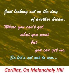 gorillaz, on melancholy hill