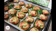 PIZZETTE DI ZUCCHINE AL FORNO Quiche, Speedy Recipes, Pizza, Cucumber, Zucchini, Antipasto, Vegetables, Food, Garden