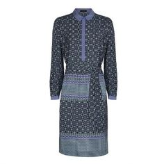 Jaeger silk tile print shirt dress: http://katemiddletonstyle.org/item/jaeger-silk-tile-print-shirt-dress/