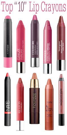 Top 10 Lip Crayons Including a Few of My Drugstore Faves!
