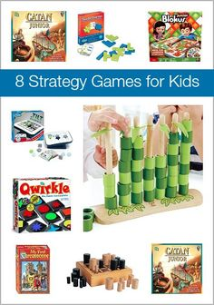 8 Strategy Games for Kids (These make great gifts or additions to the classroom!)~ BuggyandBuddy.com
