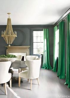 In love with window treatments.