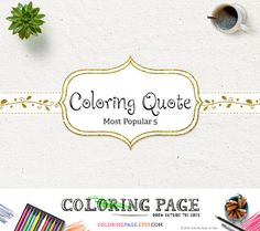 Printable Adult Coloring Pages Instant Download Printable Quote AntiStress Coloring Quote
