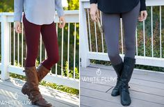 Shop the Look: Cable Knit Fleece Leggings! 7 Colors! 59% off at Groopdealz