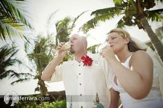 Beautiful post ceremony toast in Mexico