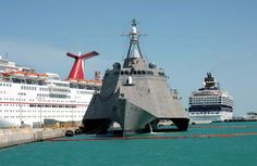ship+pictures   The littoral combat ship USS Independence is pier side during a port ...