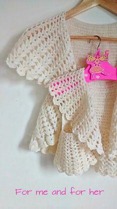 Bolero bianco sposa all'uncinetto in alpaca lana vergine