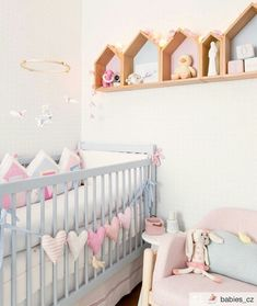 decor: girl nursery (Style It Up) Baby Bedroom, Baby Room Decor, Nursery Room, Girl Nursery, Girl Room, Girls Bedroom, Nursery Decor, Nursery Ideas, Baby Furniture