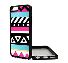 Apple iPhone 6 Case aztec pink blue hipster cute - iPhone 6 Case - Design Cover Skin BLACK RUBBER SILICONE TPU Teen Girls Gift Vintage Fashion Art Print Cell Phone Accessories MNTHINGS http://www.amazon.com/dp/B00P07XX02/ref=cm_sw_r_pi_dp_Y8Suub0MV1SWY