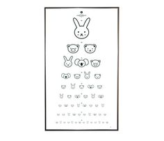 the most adorable eye chart ever.