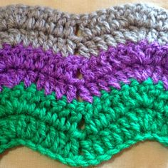 Crochet Very Nice Striped Waves