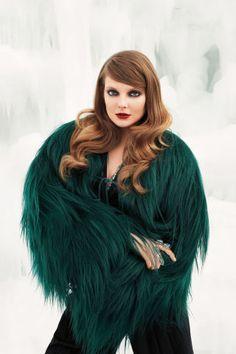 Eniko Mihalik shot by Terry Richardson. Harper's BAZAAR, November 2011.