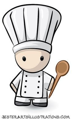 Illustration about Illustrated cartoon chef holding a wooden spoon against a white background. Illustration of food, cook, skilled - 12066655 Koch Tattoo, Chef Images, Chef Tattoo, Cartoon Chef, Culinary Chef, Chef Logo, Logo Restaurant, Food Design, Menu Design