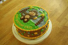 Monkey Birthday Cake by lorijohernandez, via Flickr