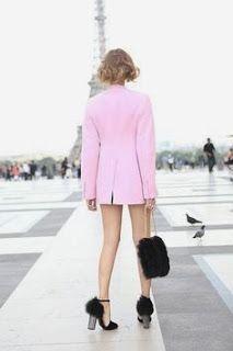 Pink in Paris.