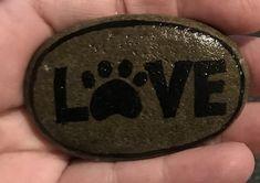 #paintedrock #love #rockart Love rock painting