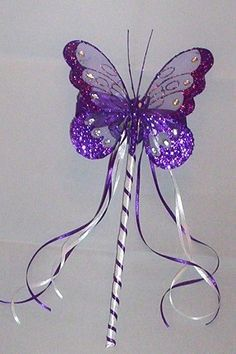 flower girl wands with butterfly - Google Search