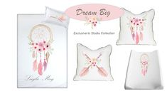 If you've got a dreamer, then our Dream Big bedding is perfect for any little girl's nursery in Pink with pops of colour!