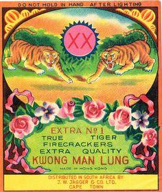 """True Tiger"" Firecracker Pack Label by Mr Brick Label via Flickr"
