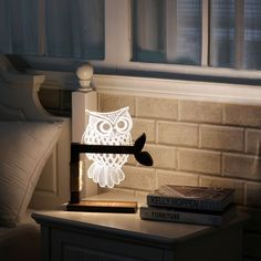 [New Style]Besteamer 3D Owl Shape LED Table Lamp Bedside Desk Lamp Desk Lamp, Bedside Lamp Dimming Night Light Adjustable Eye Protection US Plug , Reading Lights household Accessories for Home