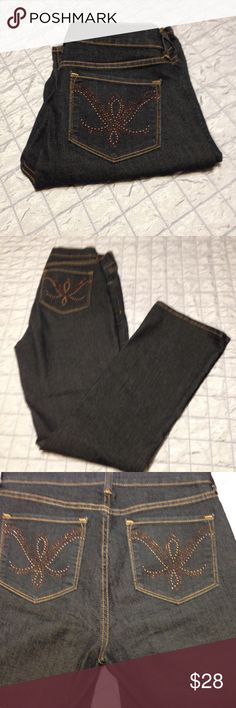 Not  Your Daughters Jeans Like New Not Your Daughters Jeans size 8 with lift and tuck technology. Dark wash 80%Cotton 10%Polyester 1%Spandex. Inseam 32 Length 42 1/2. Not your Daughters Jeans Jeans Boot Cut
